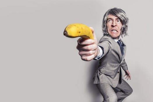 怒ったバナナ
